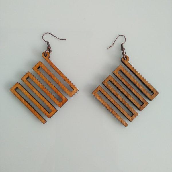 ξυλινα σκουλαρικια